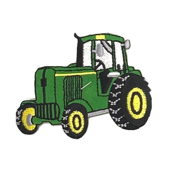 Grønn Traktor ca 7cm - Strykemerke
