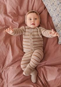 Bilde av Pauls perleribb bukse til baby - Garnpakke