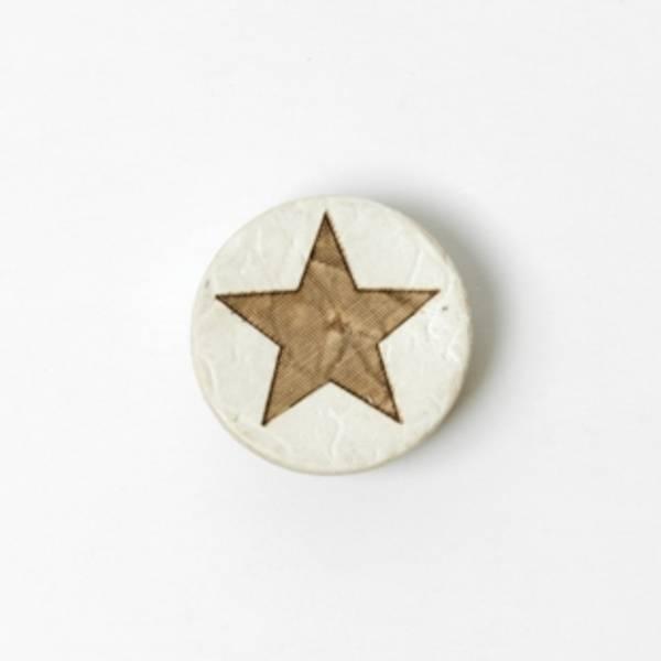 Kokosknapp med stjerne
